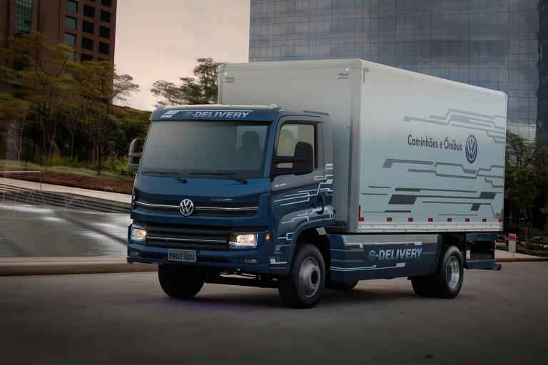 Caminhão elétrico Volkswagen e-Delivery