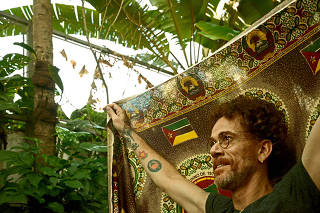 Retrato do cantor e compositor Nando Reis