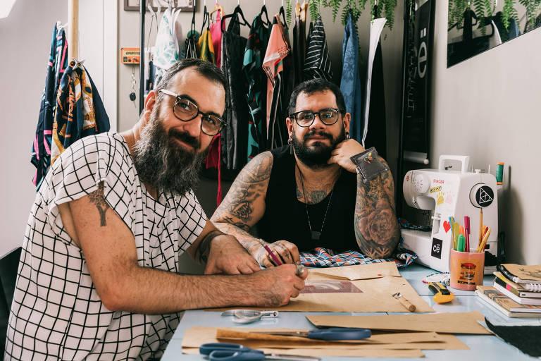 Francisco Santinho e Emerson Brandão, donos da marca Cejuntos
