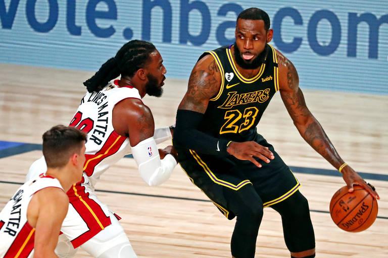 Lakers têm 2ª chance de título na NBA, e Heat tenta sobreviver de novo