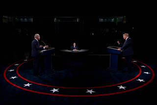 FILE PHOTO: 2020 presidential campaign debate in Cleveland