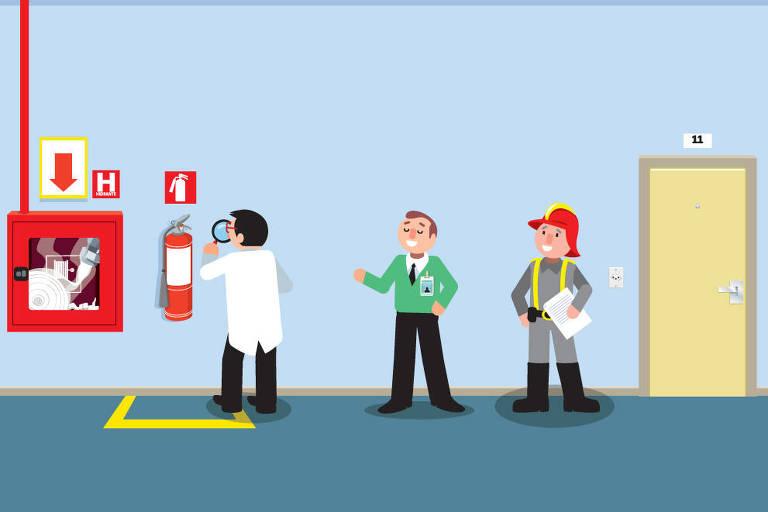 matéria sobre vistoria dos bombeiros AVCB