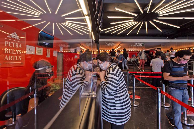 A reabertura dos cinemas em São Paulo, em outubro de 2020