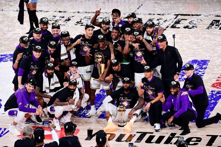 Los Angeles Lakers campeão da temporada 2019/20 da NBA