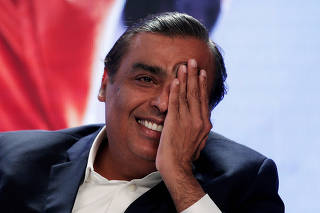 FILE PHOTO: India's Reliance seen emerging as bigger threat for U.S. firms like Amazon, Walmart