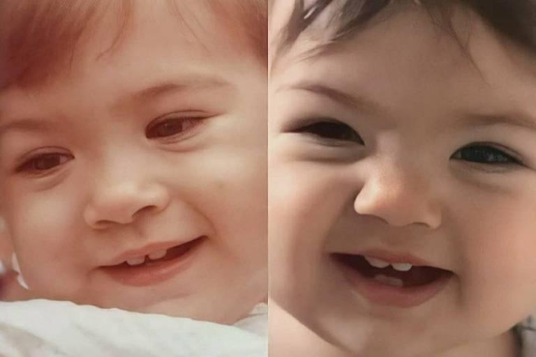 Tata Werneck publica montagem de foto quando era bebê ao lado da filha, Clara Maria