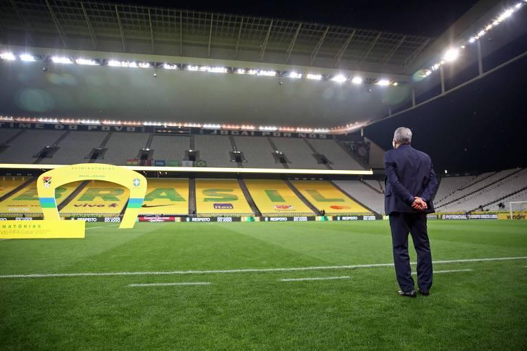 Tite pouco antes da estreia do Brasil nas eliminatórias da Copa de 2022