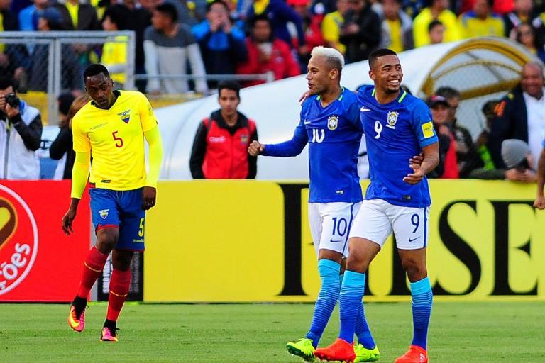Tite estreou pela seleção brasileira com vitória de 3 a 0 sobre o Equador, em setembro de 2016, pela 7ª rodada das eliminatórias. Neymar e Gabriel (2) marcaram os gols do triunfo brasileiro em Quito