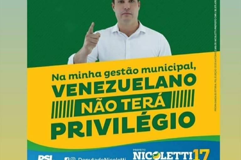 Candidatos a prefeito em Boa Vista usam retórica anti-venezuelanos em campanha