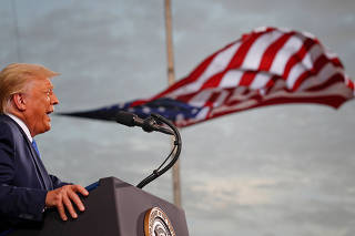 U.S. President Trump campaigns in Jacksonville, Florida