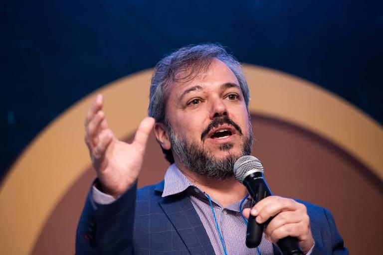 Paulo Renato Macedo Cabral, gerente do Sebrae, em palestra