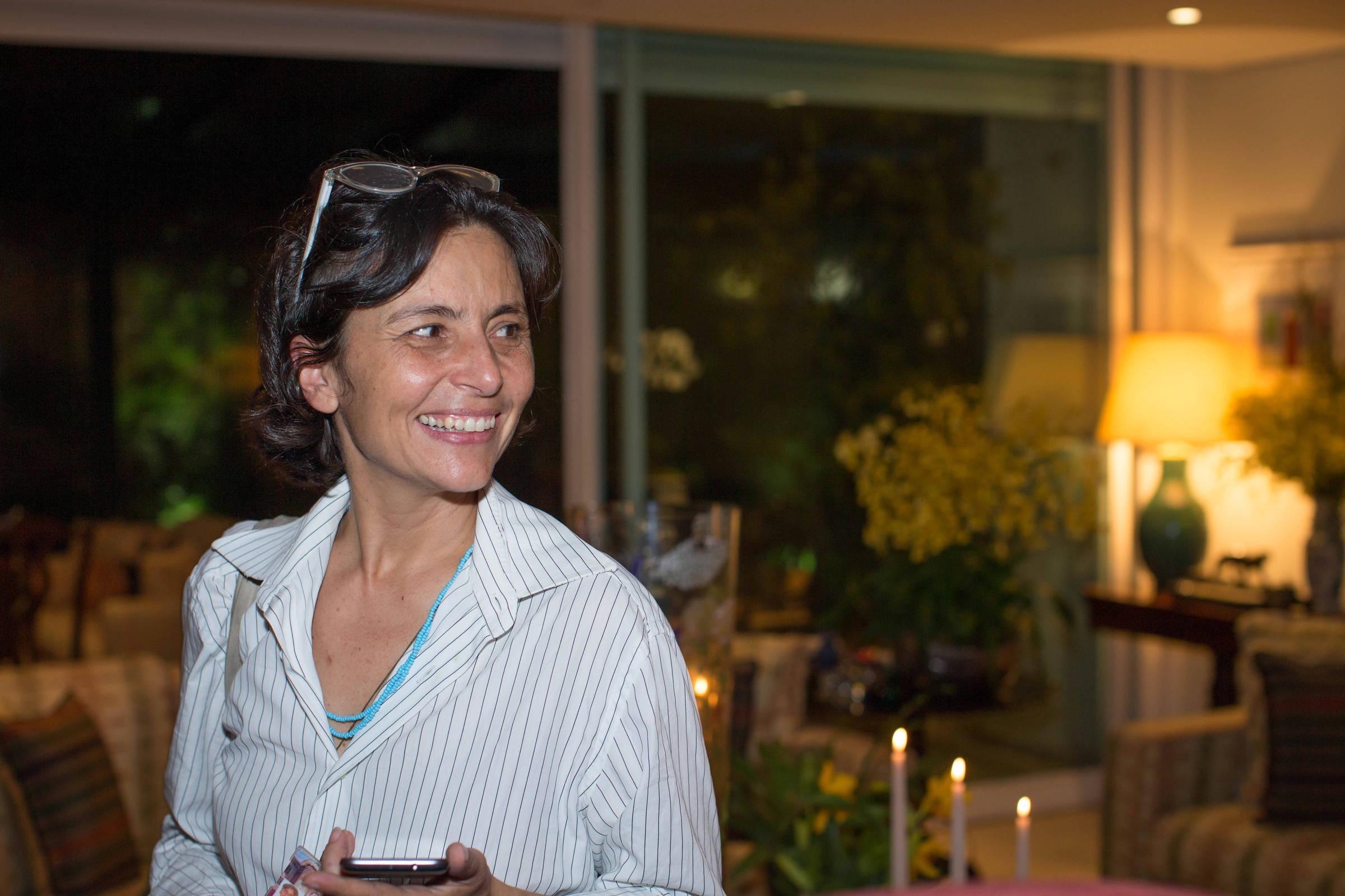 A vereadora Soninha Francine durante jantar na época em que foi secretária municipal de Assistência Social