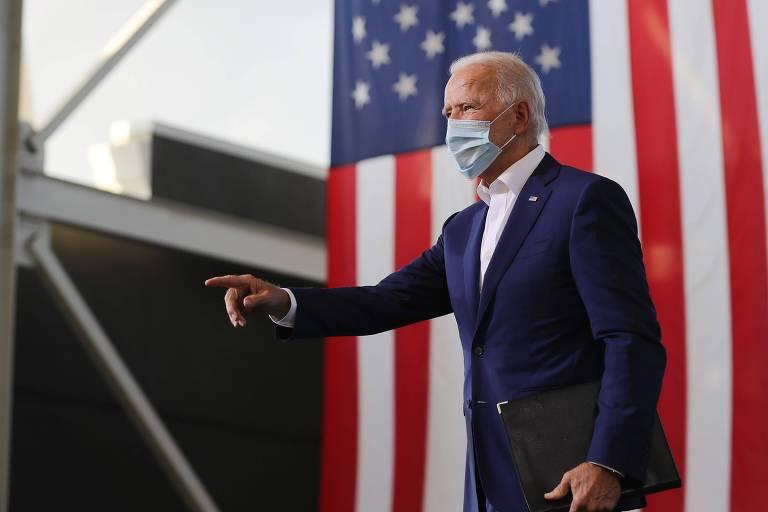 O candidato democrata à Presidência participa de evento de campanha na Flórida