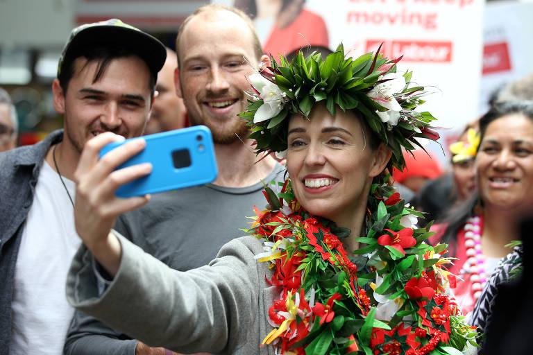 Celebridade global, Jacinda é favorita em eleição na Nova Zelândia
