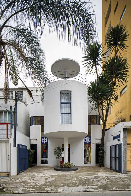 Casa de Flávio de Carvalho que será ocupada pela galeria Bergamin & Gomide; imóvel fica na Alameda Lorena, em São Paulo