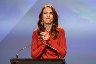 New Zealand Prime Minister Ardern claims victory at the Labour Party election night event in Auckland
