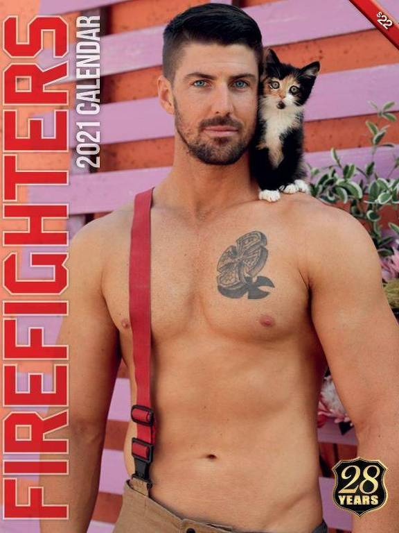 Calendário de gatos de 2021 do Australian Firefighters Calendar