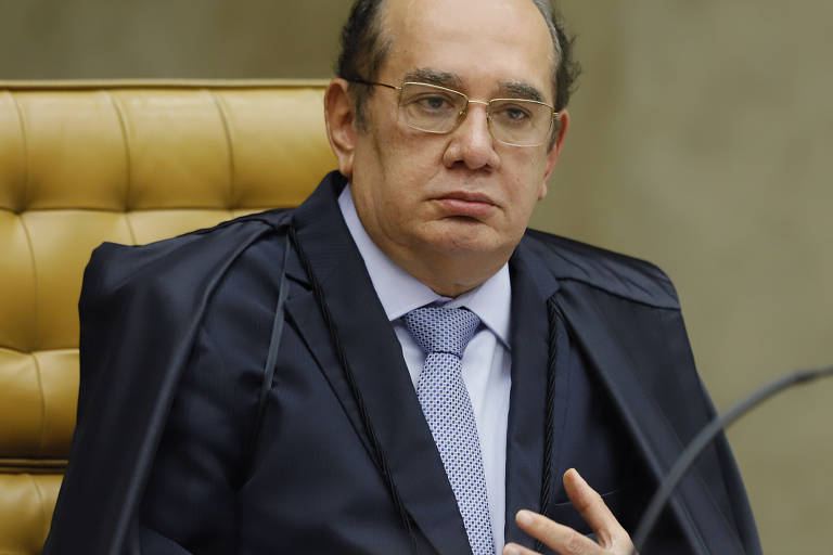 Ministro Gilmar Mendes durante sessão plenária por videoconferência.