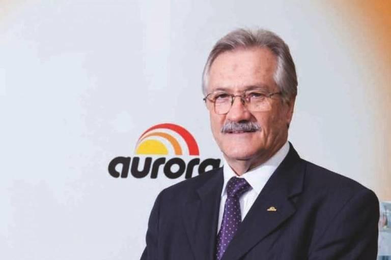 O Empresário Mário Lanznaster, presidente da Aurora Alimentos