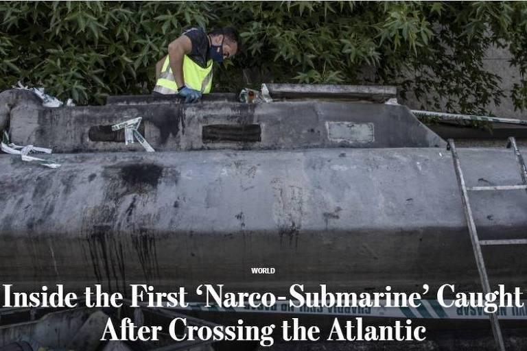 Narcossubmarino brasileiro cruza o Atlântico e muda o jogo