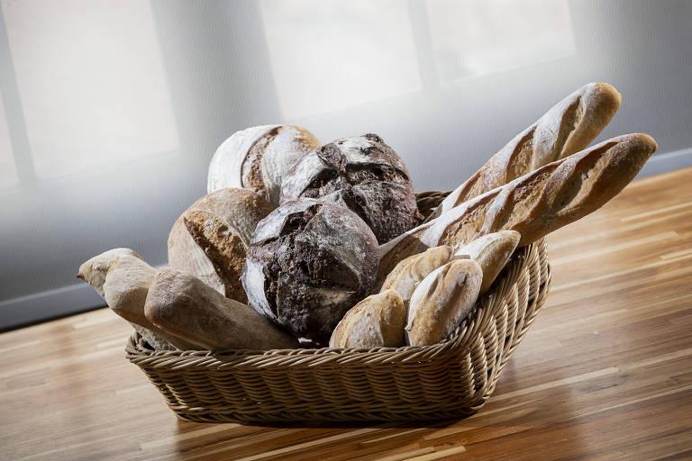 Achado: cesta de pães de fermentação natural da Casa Bonometti