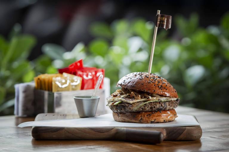 Achado: hamburguer vegetariano da Mobi Hamburgueria