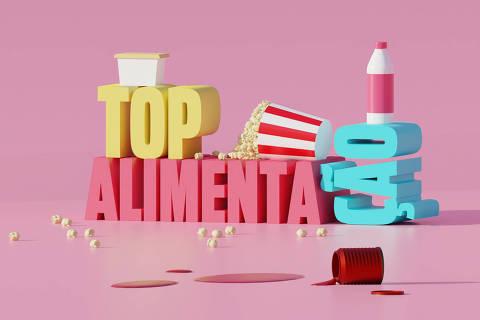 Ilustração da categoria Top Alimentação da Folha Top of Mind 2020