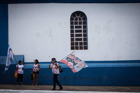 SAO PAULOS/ SP, BRASIL, 20.10.2020: equipe de campanha de candidatos - Eleição em Parelheiros, reduto eleitoral de Marta Suplicy.   (Foto: Zanone Fraissat/Folhapress, PODER)***EXCLUSIVO****