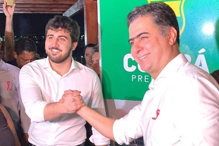 Os candidatos Emanuel Pinheiro e Emanuel Pinheiro Neto reunidos no ano passado