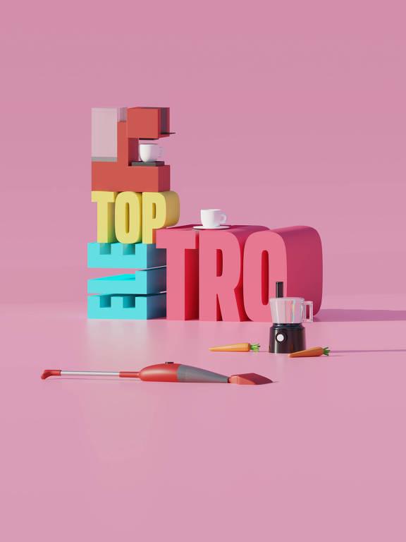 Ilustração da categoria Top Eletro da 30ª Folha Top of Mind