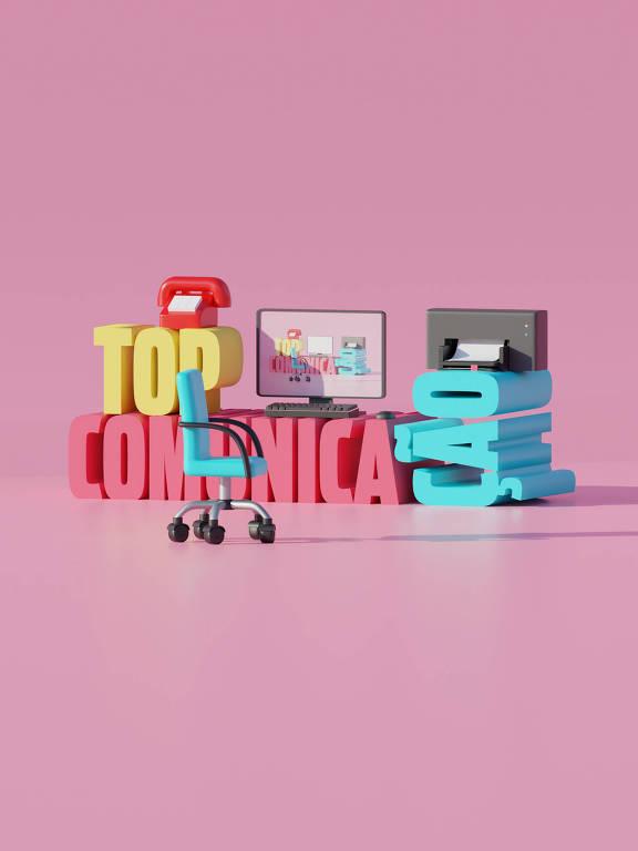 Ilustração da categoria Top Comunicação da 30ª Folha Top of Mind