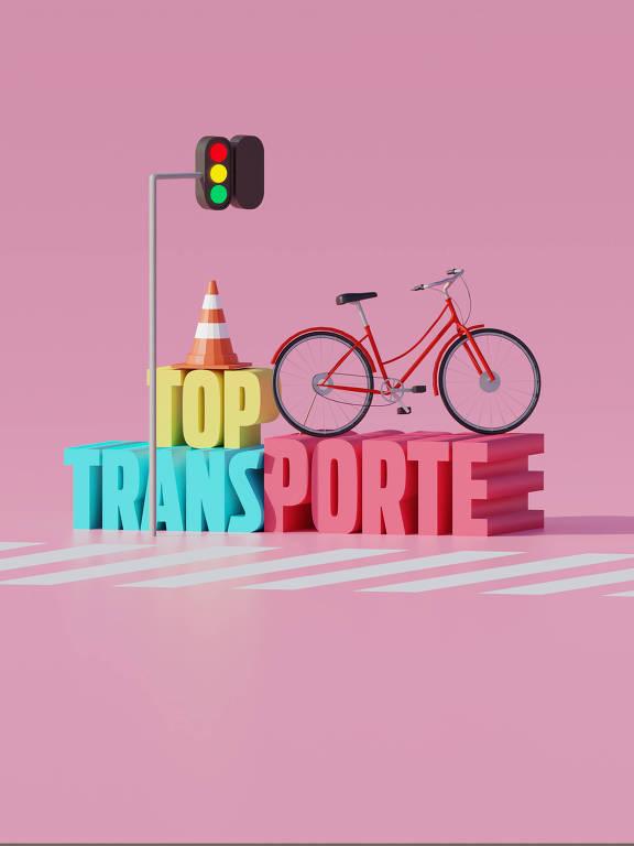 Ilustração da categoria Top Transporte da 30ª Folha Top of Mind