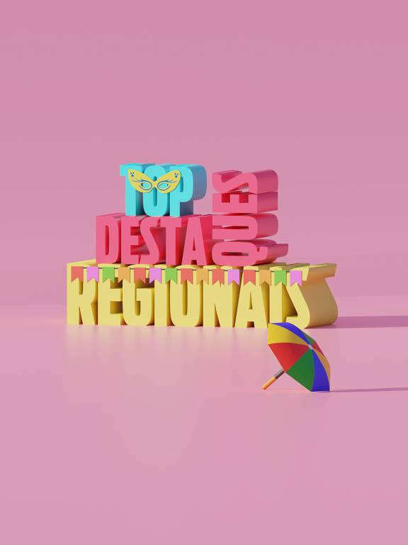 Ilustração da categoria Top Destaques Regionais da 30ª Folha Top of Mind