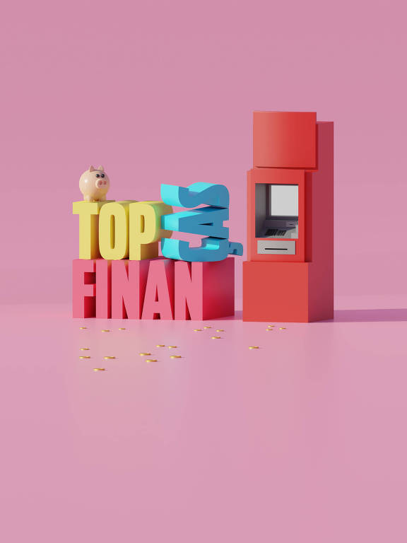 Ilustração da categoria Top Finanças da 30ª Folha Top of Mind