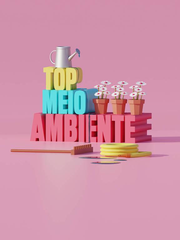 Ilustração da categoria Top Meio Ambiente da 30ª Folha Top of Mind