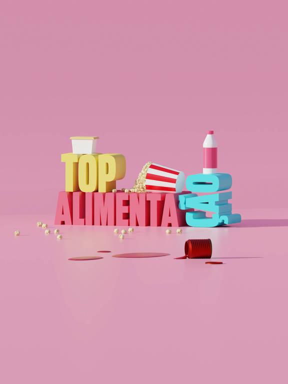 Ilustração da categoria Top Alimentação da 30ª Folha Top of Mind