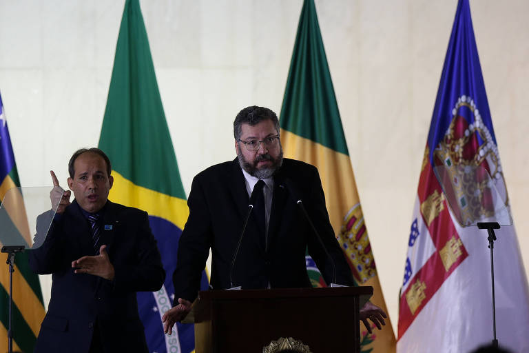 O ministro das Relações Exteriores, Ernesto Araújo, participa de formatura do Instituto Rio Branco no Palácio do Itamaraty