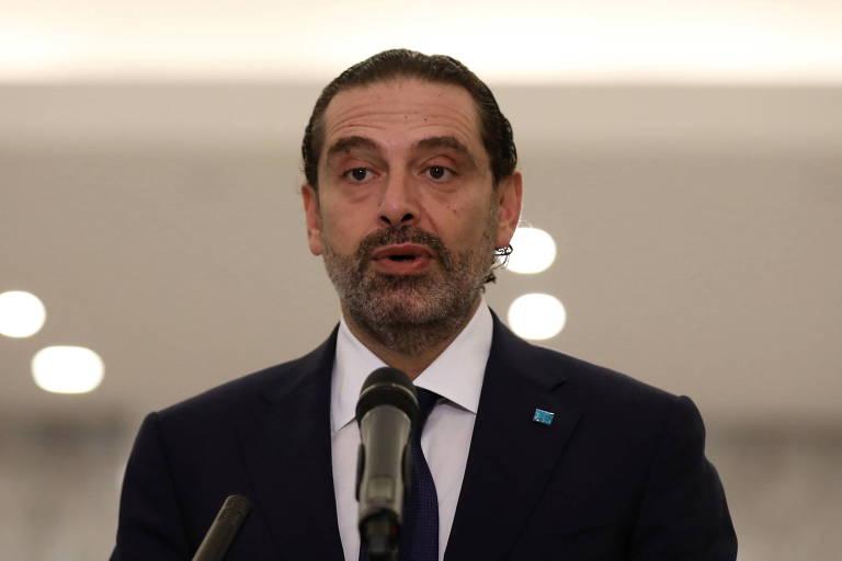 Saad Hariri faz pronunciamento após ser nomeado premiê do Líbano pela quarta vez
