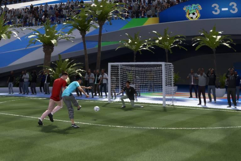 Partida de futebol Volta do game Fifa 21
