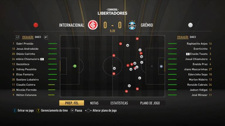 O simulador interativo de partidas é uma das novidades do Fifa 21
