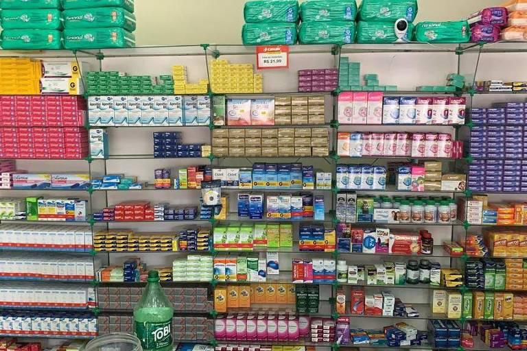 Uma das farmácias que foram alvo de operação da Polícia Civil do Rio contra as milícias