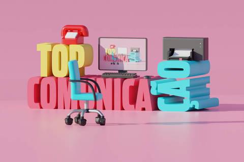 Ilustração da categoria Top Comunicação da Folha Top of Mind 2020