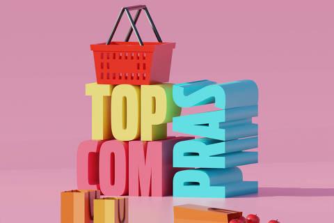 Ilustração da categoria Top Compras da Folha Top of Mind 2020