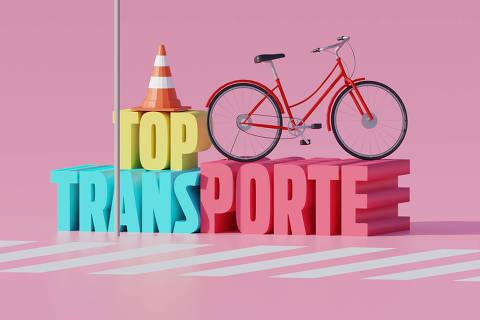 Ilustração da categoria Top Transporte da Folha Top of Mind 2020