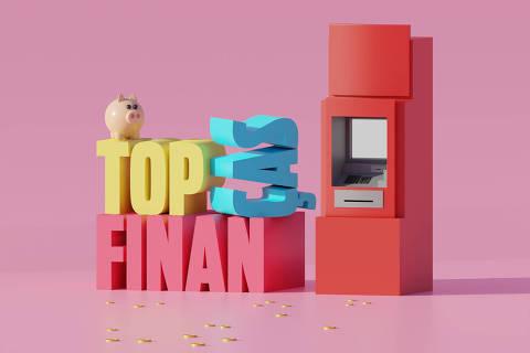 Ilustração da categoria Top Finanças da Folha Top of Mind 2020
