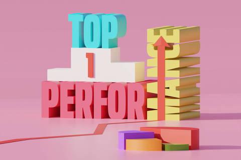 Ilustração da categoria Top Performance da Folha Top of Mind 2020