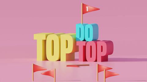Ilustração da categoria Top do Top da Folha Top of Mind 2020