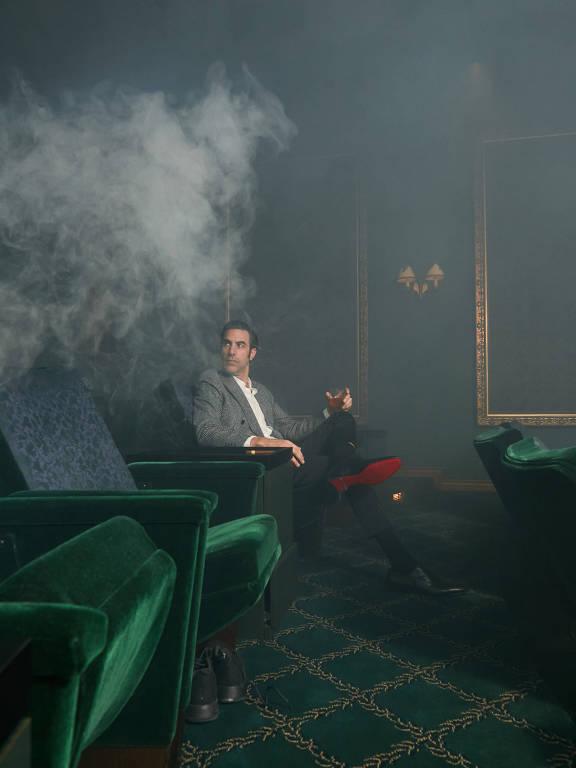 O comediante britânico Sacha Baron Cohen em Los Angeles