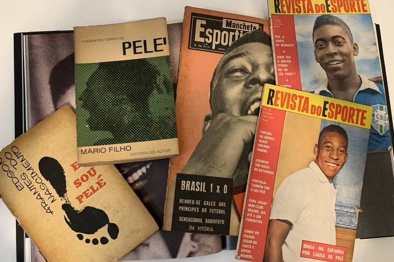 Com Pelé na ponte aérea