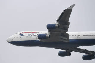 FILE PHOTO: British Airways Boeing 747 leaves London Heathrow airport
